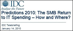IDC SMB 2010 Predictions