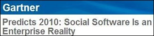 Gartner - Social Software 2010